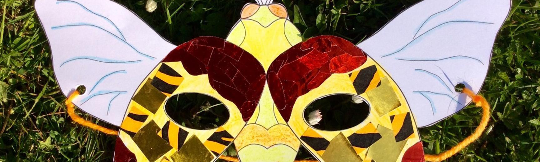 ready made jewel beetle mask