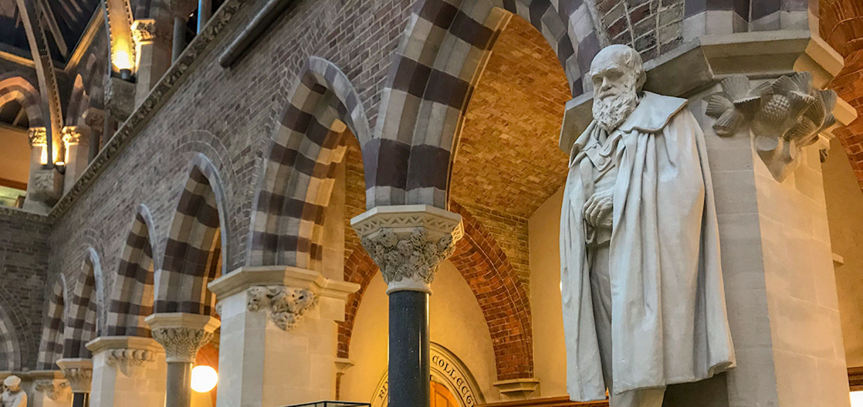 Statue of Charles Darwin by Henry Richard Hope-Pinker