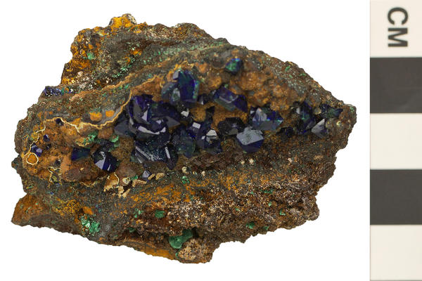 image of azurite a monoclinic crystal shape