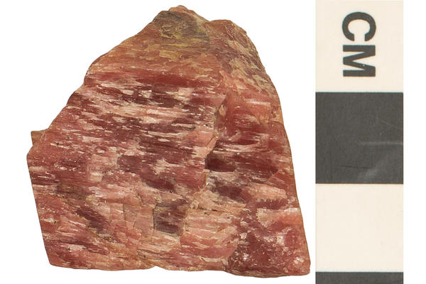 image of rhodonite a triclinic crystal shape