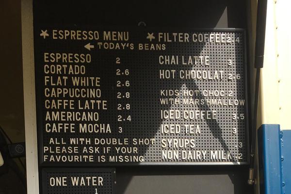 menu board horsebox