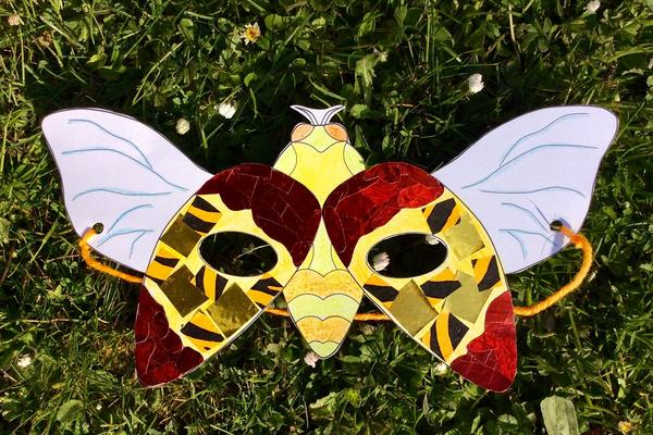 ready made jewel beetle mask