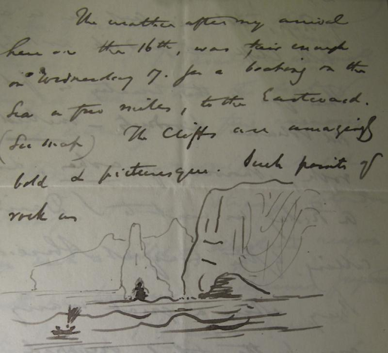 Letter from John Phillips to sister Anne, 22 November 1841, describing the geology of the Pembrokeshire coast, near Fishguard.