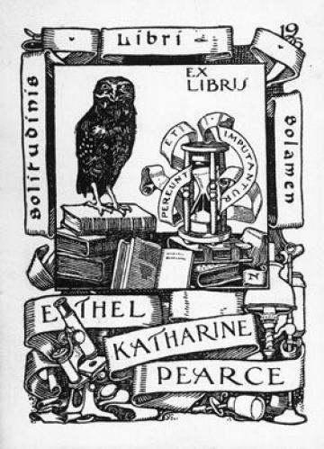 Book Plate Ethel Katharine Pearce